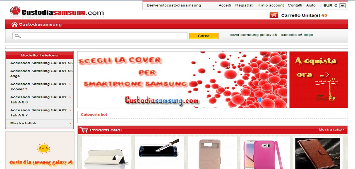 Vendita custodia Samsung Galaxy S6