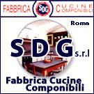 Sdg fabbrica cucine componibili classiche, moderne e in muratura a S. Cesareo Roma.